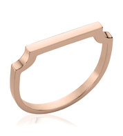 Rose Gold Vermeil Signature Thin Ring - Monica Vinader