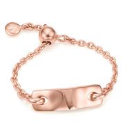 Rose Gold Vermeil Havana Adjustable Friendship Ring - Monica Vinader