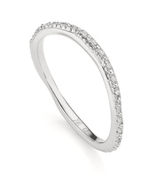 Sterling Silver Riva Wave Eternity Diamond Ring - Diamond - Monica Vinader