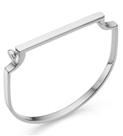 Sterling Silver Signature Thin Bangle - Monica Vinader