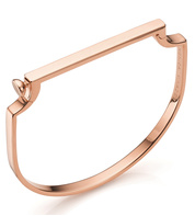 Rose Gold Vermeil Signature Thin Bangle - Monica Vinader