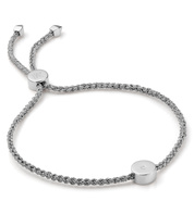 Sterling Silver Linear Solo Friendship Diamond Bracelet - Diamond - Monica Vinader