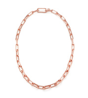 Rose Gold Vermeil Alta Capture Charm Necklace - Monica Vinader