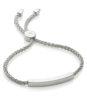 Linear Friendship Bracelet - Silver Metallica Cord