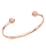 Rose Gold Vermeil Linear Solo Diamond Cuff - Diamond - Monica Vinader