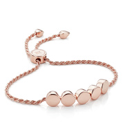 Rose Gold Vermeil Linear Bead Friendship Chain Bracelet - Monica Vinader