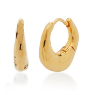 Gold Vermeil Deia Huggie Earrings - Monica Vinader