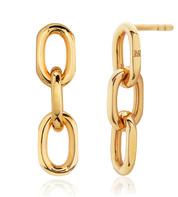 Gold Vermeil Alta Capture Mini Link Earrings - Monica Vinader