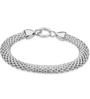 Sterling Silver Doina Wide Chain Bracelet - Monica Vinader