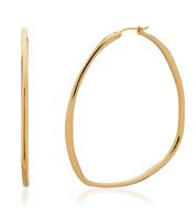 Gold Vermeil Nura Reef Large Hoop Earrings - Monica Vinader