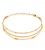 Gold Vermeil Layered Chain Bracelet - Monica Vinader