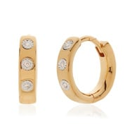 Gold Vermeil Fiji Gem Diamond Huggie Earrings - Diamond - Monica Vinader
