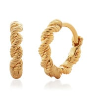 Gold Vermeil Corda Huggie Earrings - Monica Vinader
