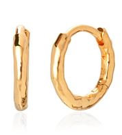 Gold Vermeil Ziggy Huggie Earrings - Monica Vinader