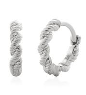 Sterling Silver Corda Huggie Earrings - Monica Vinader