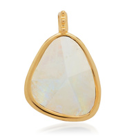 Gold Vermeil Deia Gemstone Pendant - Moonstone - Monica Vinader