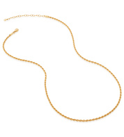 Gold Vermeil Rope Chain Necklace  - Monica Vinader