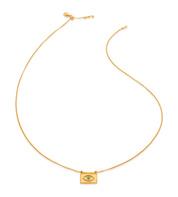 Gold Vermeil Deia Evil Eye Necklace - Turquoise - Monica Vinader