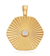 Gold Vermeil Disco Diamond Pendant - Monica Vinader