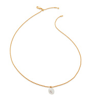 Gold Vermeil Nura Tiny Keshi Pearl Necklace - Pearl - Monica Vinader
