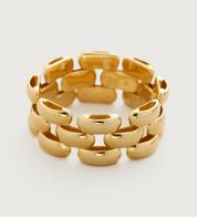Gold Vermeil Doina Chain Ring - No stone - Monica Vinader