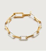Gold Vermeil Alta Capture Mixed Metal Charm Bracelet - Monica Vinader