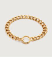 Gold Vermeil Groove Curb Chain Bracelet - Monica Vinader