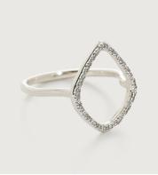 Sterling Silver Riva Diamond Hoop Ring - Diamond - Monica Vinader