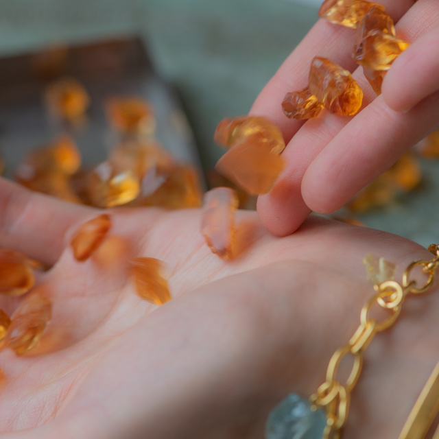 Orange csrnelian gemstone