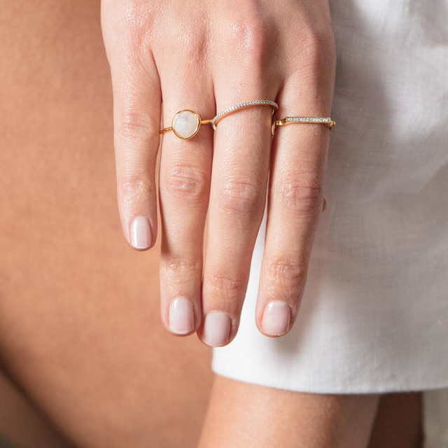 how to style minimalist rings