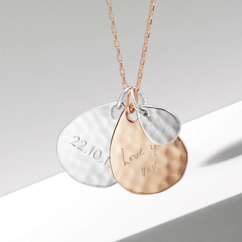 monica stackable ziggy necklace engrave vinader pendants pendant own create your petal personalised mv