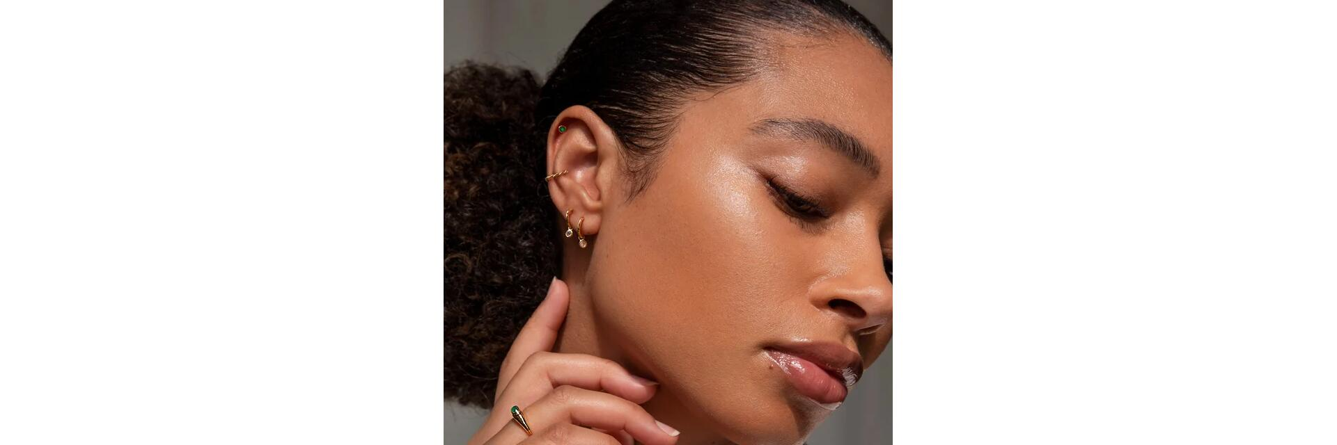 once your piercing is healed, experiment with delicate gemstone jewellery