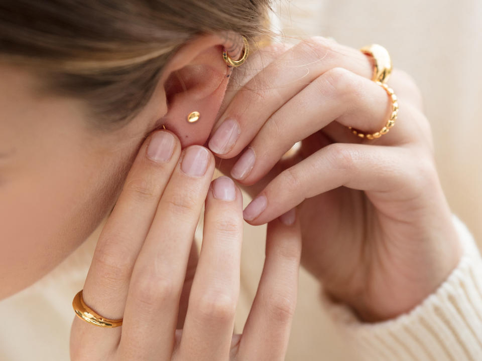 stud earrings are elegant for everyday
