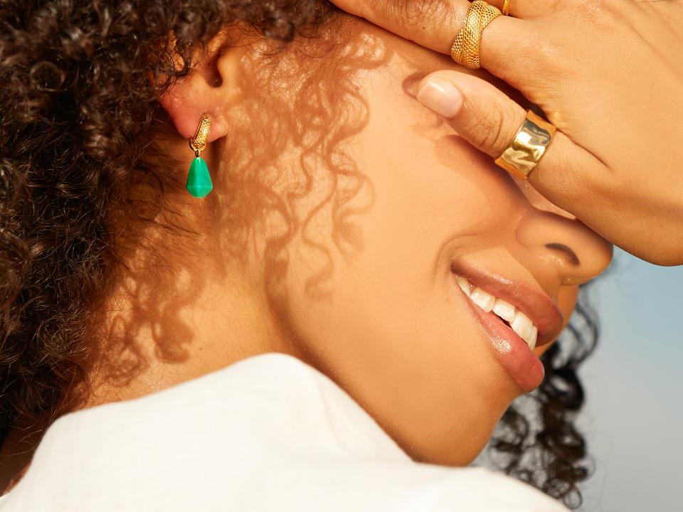 huggies are earrings that hug close to the ear