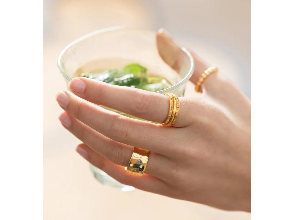 minimalist rings set with gemstones