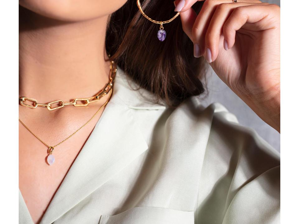 amethyst is a semi-precious gemstone