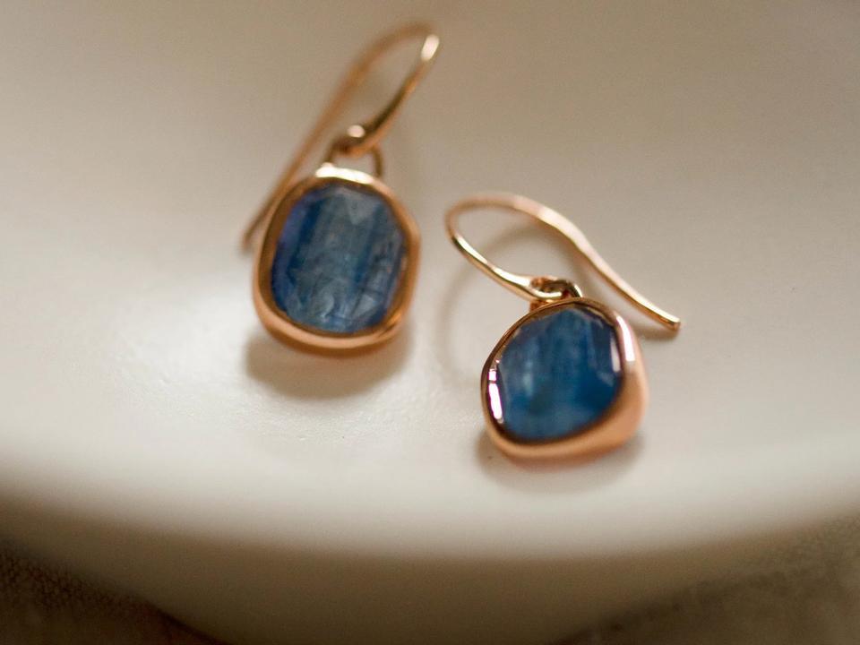 kyanite is a deep blue semi-precious gemstone