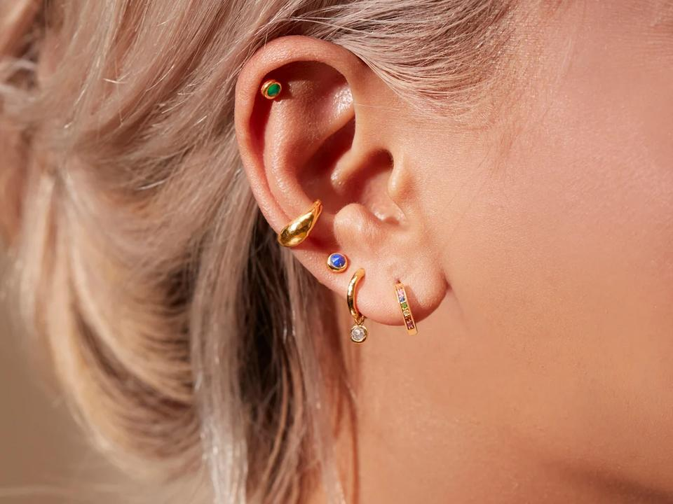 explore coloured earrings in your new piercing types