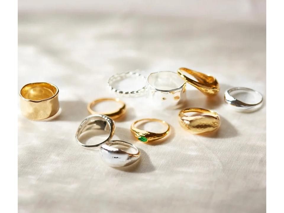 our sustainable rings are made using recycled silver and gold