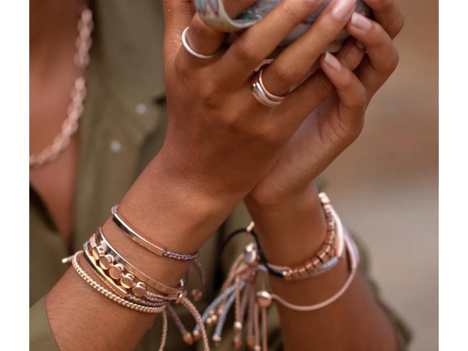 stack your meaningful bracelets to combine your favourite pieces