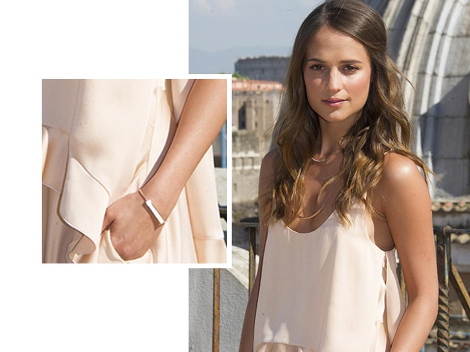 Alicia Vikander wear the Iconic Baja Bracelet
