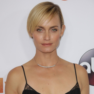 Amber Valletta wearing Esencia Pave Necklace