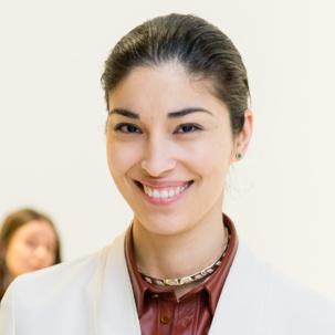 TANK Editor Caroline Issa wears Monica Vinader Diva Lotus Stud Earrings in Green Aventurine and Diamond to Paris Fashion Week, March 2015