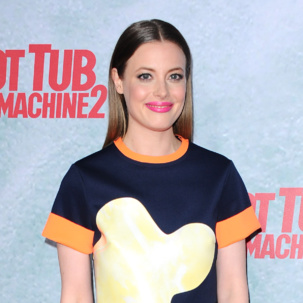 Gillian Jacobs wears Monica Vinader Baja Precious in Blue Sapphire to the premier of Hot Tub Time Machine 2 in LA