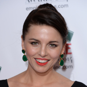 Ophelia Lovibond wears Monica Vinader Green Onyx Siren Cocktail Earrings at the Empire Awards 2014 in London.