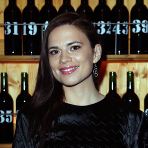 Hayley Atwell in Monica Vinader Riva Diamond Cluster Earrings at the Kiehl's Icons VIP Dinner in London