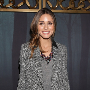 Olivia Palermo wears Monica Vinader Fiji Diamond Toggle Bracelet to Milan Fashion Week AW14.