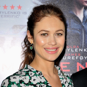 Olga Kurylenko wears the Naida Cocktail earrings to the 'Momentum' premiere