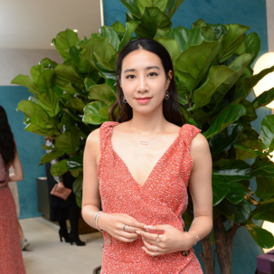 Singer Kary Ng wears Skinny, Stellar & Naida Collections to the MV Harbour City store ribbon cutting