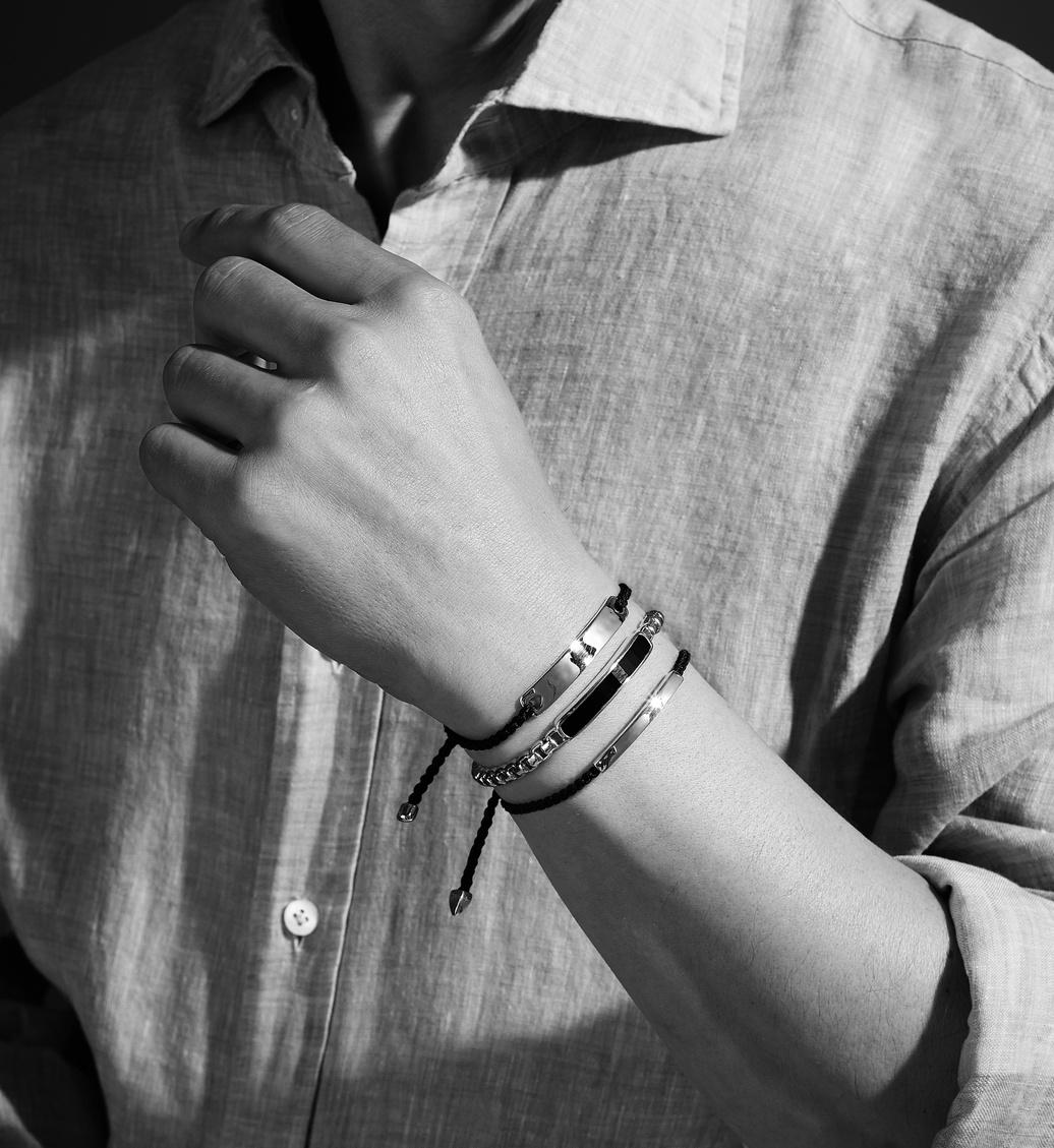 Baja Mens Bracelet - Black Onyx Stack